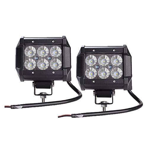 JiuRui LED Lampe 18W 10-30V DCCar führte Licht, Punkt des Stab-Arbeitslicht-Lampen-Chip-LED/Flut-Motorrad-Traktor-Boot weg vom Straßen-LKW, 2Pcs (Edition : Spot beam) -