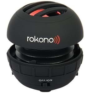 Rokono BASS+ Mini Lautsprecher für iPhone / iPad / iPod / MP3 Player / Laptop - Schwarz