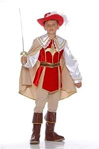 Caritan - Deguisement mousquetaire, pantalon avec surbottes, veste, ceinture