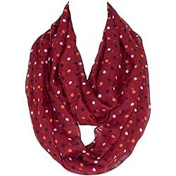 Huixin Bufanda Puntos Pequeños Bufanda Las De Outdoor Señoras Tubo De La Bufanda Lunares De Moda Bufanda Suave Acogedora Bufanda (Color : Rot, Size : One Size)