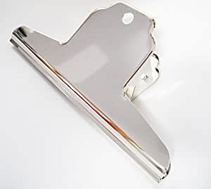 Bulldog Clips, Silver Metal Clips,Bull Dog Clip. X LARGE~ 160mm~ 2pack