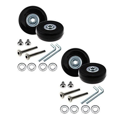 D2D Gepäck Rollen Ersatz Reparatur OD 50mm Achsen-Set Ersatz Metall, 1Paar/2Paar Ersatz-set