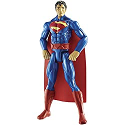 Batman - Figura grande de Superman, 30 cm, color rojo y azul (Mattel CDM62)