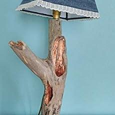 Lampe Sur En Naturel De A Salon Chevet Bois Poser 0nmNOv8w