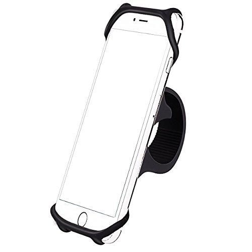 Ailun Handyhalterung Fahrrad Silikon Verstellbarer Fahrradhalterung für Smartphones mit der Bildschirmgröße von 4-6 Zoll, Ideal für Fahrradlenker, Mountainbike, Rennrad, Motorrad, Kinderwagen Schwarz