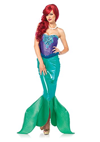 Mermaid Little Kostüm - Leg Avenue 85368 - Deep Sea Siren Damen kostüm , Größe Small (EUR 36), Karneval Fasching