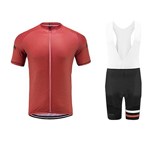 Uglyfrog Herren Fahrradbekleidung Kurzarm Radtrikot Set Outdoor Radsport Gemütlich Fahrradbekleidung Trikot Jersey + Kurzarm Radlerhose Anzüge im Sommer