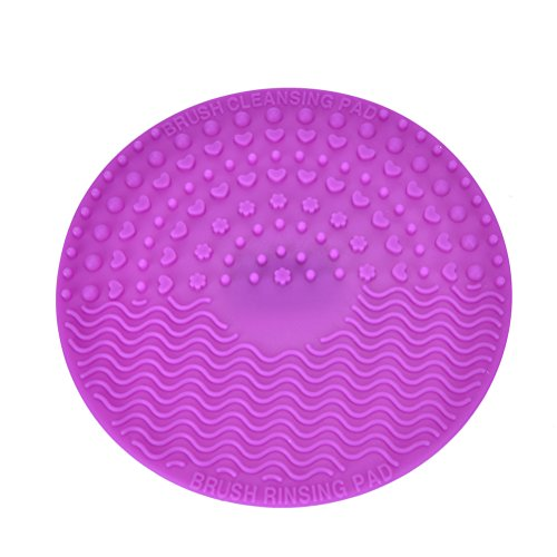 rounde-purple-silicone-makeup-brush-cleaning-mat-cosmetic-makeup-brush-cleaner-pad-silicon-scrubber-