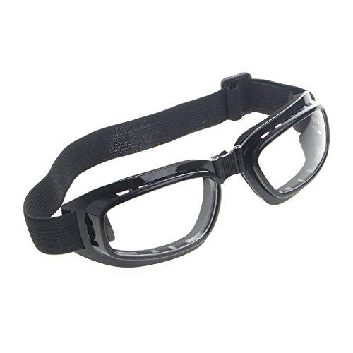 Jiamins Faltbare Schutzbrille Ski Snowboard Motorrad Brillen Brillen Augenschutz (Transparent)