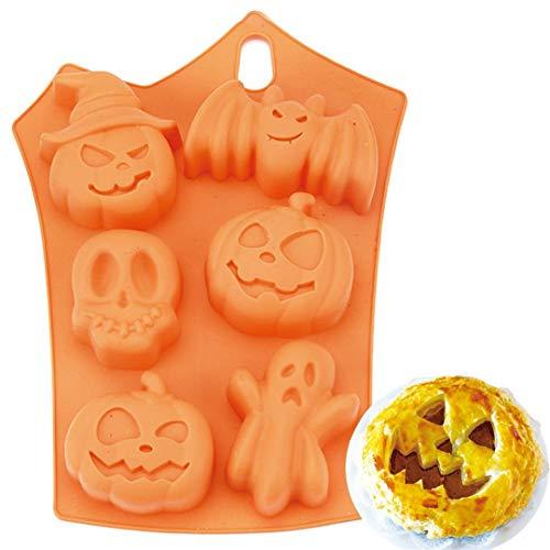 Pack Halloween Kürbis Hexe Geist Silikonform Süßigkeiten Form Eiswürfelschale für Urlaub Schokolade, Muffin Tassen, Wafer, Cake Topper, Bad Bomben, Seifen Cookie und vieles mehr ()