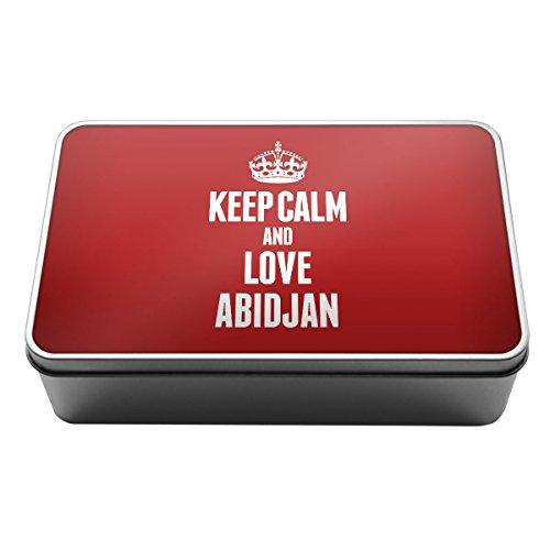 Rot Keep Calm und Love Abidjan Metall Aufbewahrungsdose Box 2310