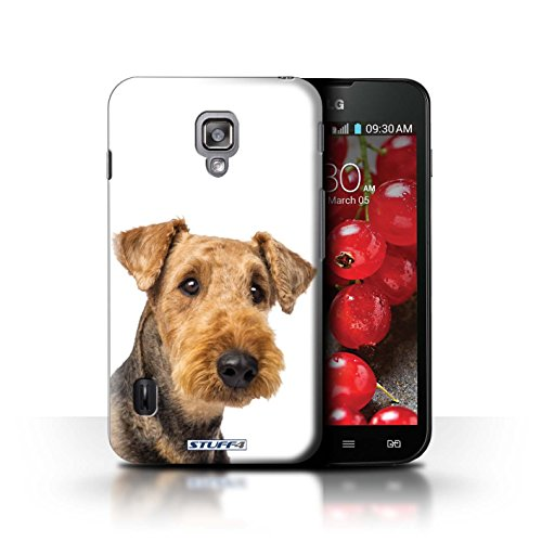 Kobalt® Imprimé Etui / Coque pour LG Optimus L7 II Dual / Bull Terrier conception / Série Chiens Airedale Terrier