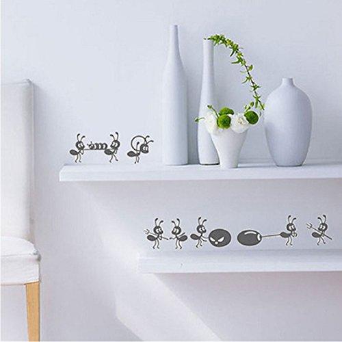 Vovotrade 2016 Mignon petites fourmis Stickers muraux Miroir fenêtre Stickers Chambre Decal