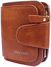 AlexVyan Women's Small Purse Wallet Female Hand Clutch Women/Ladies/Girls Wallets Card Holder 3 Pocket