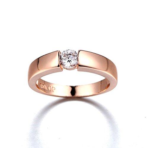Einfacher einzelner Diamanthochzeitsring Hochwertiger Zirconring YunYoud Mehreren Ringen schmale stahlringe doppelring verlobungsringe siegelring platinringe dünner diamantring