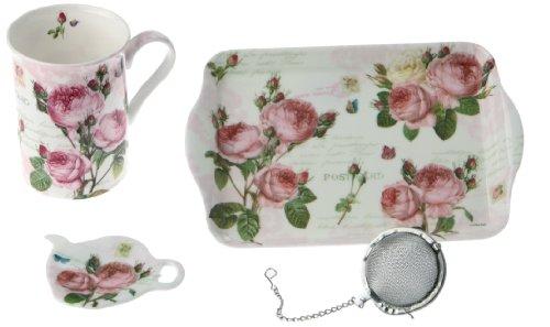 Easy Life 306 RMR Tee Geschenk Set, Porzellan, Mehrfarbig, 21 x 10.5 x 14.5 cm