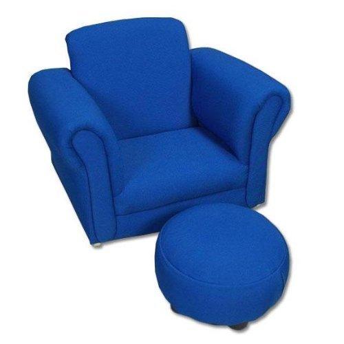 Geschenk Mark gepolsterten Schaukelstuhl und Polsterhocker Clubsessel blau