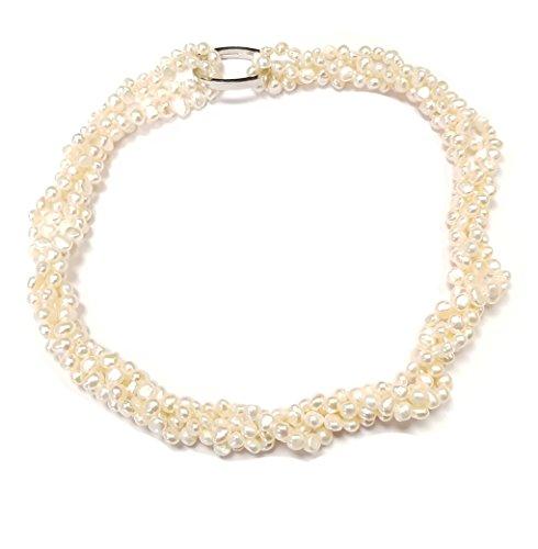 FAB treasurebay Armband Süßwasserperle weiß Series 4in 1Halskette-Frauen Halskette -