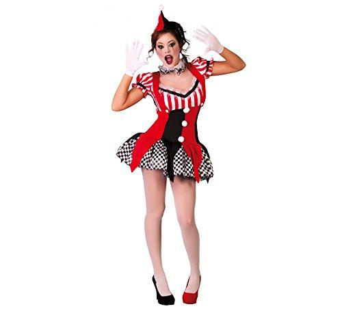 Joker Kostüm Harlekin - Generique Kostüm Joker Harlekin Sexy für Damen XS/S (36-38)
