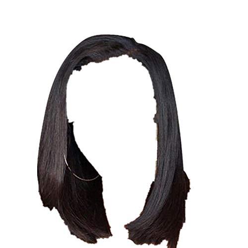 Mehrfarbig PerüCke Gerade Kurze Keine Spitze Haar PerüCken FüR Schwarze Frauen LäNge Und Punkte, Weiches Kurzes Wigs HeißEr Verkauf Hochtemperaturbeständige Haarteil illimitable (Braun)