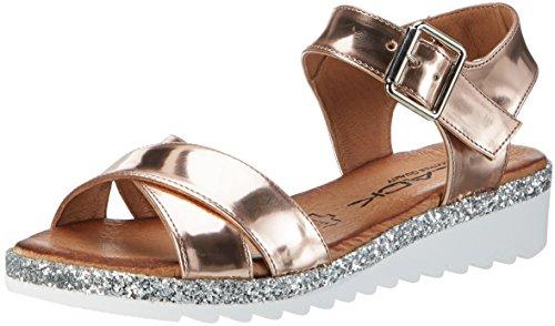 BLACK 282 194 Sandali con Cinturino alla Caviglia Donna Oro Rose/Gold