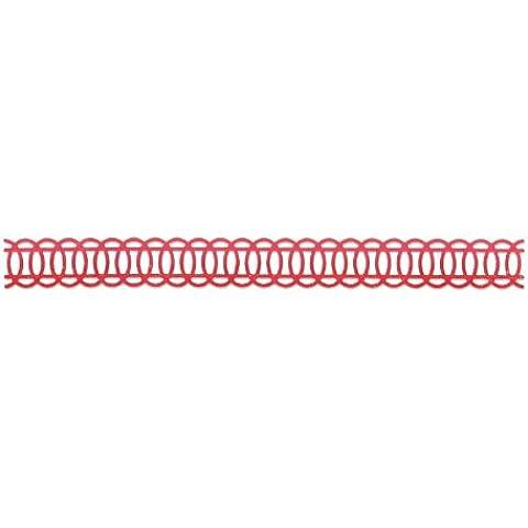 Sizzix - Fustella a festone, design  a ovali concatenati di Basic Grey, colore: Nero