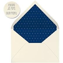sobres forrados invitaciones de boda LISO PUNTO BLANCO 22,5x16,5 cm. (azul marino)