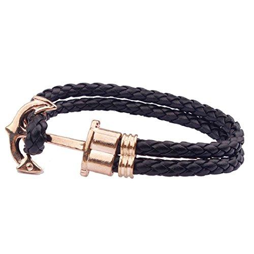 fulltimerfemme-homme-multilayer-main-en-cuir-cuff-bracelet-anchor-bracelet-noir