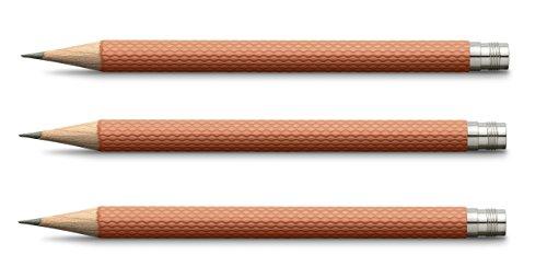 Graf von Faber-Castell 118661 Bleistift, 3er Set orange (Faber Castell Perfekter Bleistift)