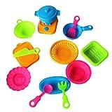 mAjglgE 15-teiliges Set Simulation Küche Geschirr Kinder Kinder Kochen Geschenk Spielzeug