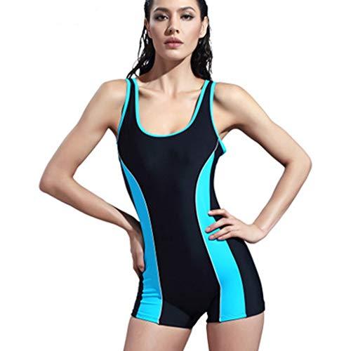 SUNFANY Damen Professionelle Surfanzug Ärmellos Einteiliger Monokini Badeanzug Tauchen Surfen Badeanzug Neoprenanzug, US Größe(Himmelblau,EUR - 40)