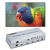 4K 2x2 videowand Controller 1 HDMI/DVI Eingänge auf 4 HDMI Ausgänge Video Wall prozessor Unterstützung 1X2 2x2 1X4