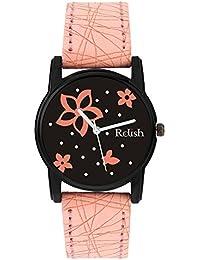 Relish Analog Black Dial Watches for Girls & Women RE-L088PB