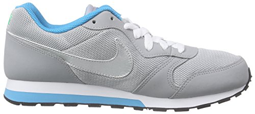 Nike Md Runner 2 (Gs), Baskets Basses mixte enfant Gris - Grau (Wolf Grey/Mtllc Silver-Bl Lgn 004)
