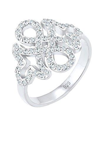 Elli Premium Damen Ring Infinity Ornament 925 Sterling Silber Swarovski Kristalle 06126102 Preisvergleich