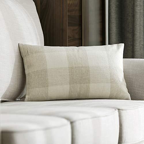 MIULEE Housses de Coussin Decoratives Rayures en Lin Canapé Decoration Taie d'oreiller Classique pour Salon Bureau Chamb