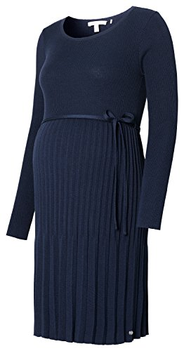 ESPRIT Maternity Damen Umstandskleid Feinstrick in schöner plissierter Optik / Farbe: Night Blue (486) K84275 (Bleistiftrock Maternity)