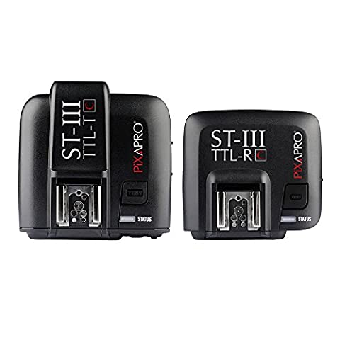 PIXAPRO® ST-III Trigger Set TTL For Nikon X1N TTL High-Speed Sync Wireless ETTL 5 GR Groups Flash Trigger Set capable flashes ST3 ST-3 approximately 100m triggering transmitting transmission ratio optical slave systems HSS Photo Photography Essential *Fast Delivery *UK Stock *VAT Registered … (Trigger Set, For