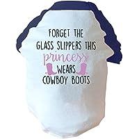 Forget il vetro Pantofole questo porta-Stivali stile cowboy da due tonalità di colore: rosa/blu
