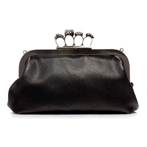 D.jiani® Europa e in America retrò borsa borsetta tracolla a catena cranio anello Messenger bag