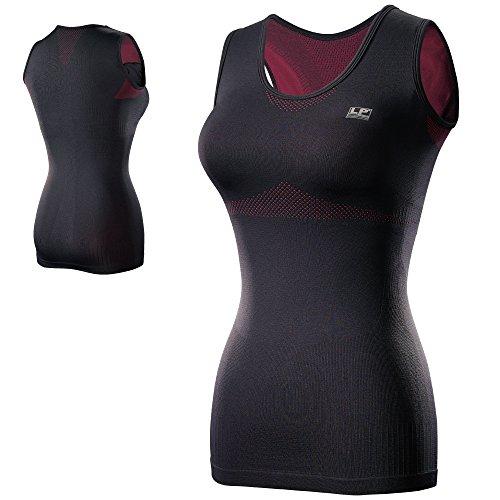 LP Support 236Z EmbioZ Damen Support Compression Top - Ärmelloses Funktionsshirt - Fitness-Top - Running-Shirt - Sport-Funktionsshirt für Damen, Größe:S, Farbe:schwarz