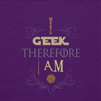 TEXLAB - I geek therefore I am - Damen T-Shirt Violett