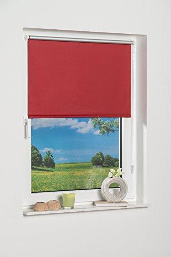 K-home 238154–3klemmfix mini tenda avvolgibile oscurante, plastica, tessuto, rosso, 70 x 150 cm
