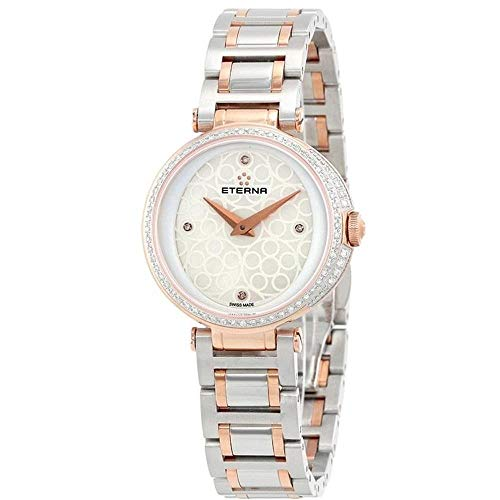 Eterna Grace Femme Diamant 33mm Saphire Quartz Montre 2561-59-61-1724