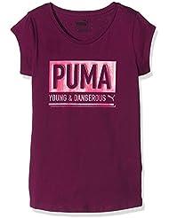 Dangerous Puma-Camiseta de manga corta para niña, color morado (: 12 años, talla fabricante: 152)