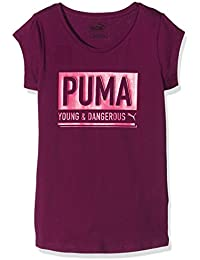 Puma Girls' Dangerous Tee.Magenta T-Shirt