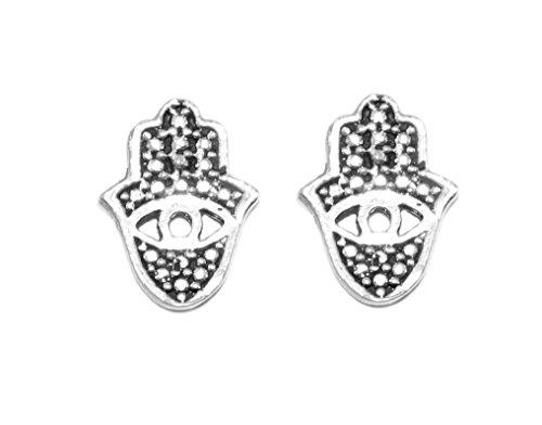 *925 Silber Ohrstecker Hamsa Hand Nazar Auge Symbol Glücksbringer Ohrschmuck* Glücksbringer Ohrringe