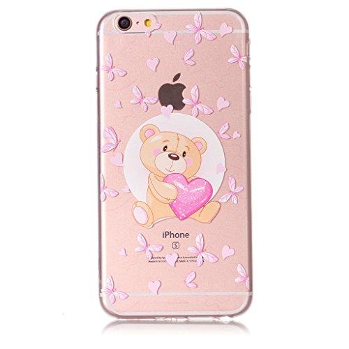 Per iPhone 6 Plus / iPhone 6S Plus Cover , YIGA Unicorno dellaerostato Trasparente Silicone Morbido TPU Case Shell Protezione Custodia per Apple iPhone 6 Plus / iPhone 6S Plus (5,5) XY18