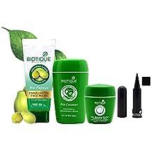 Biotique Whitening & Brightening Cream,Kajal,Face Wash and Lip Balm Combo