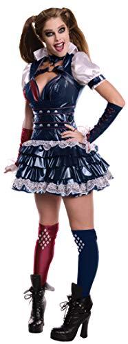 Kostüm Joker's Freundin - Rubie's Damen-Kostüm Harley Quinn, Batman: Arkham, Kostüm für Erwachsene, offizielles Lizenzprodukt - Größe M